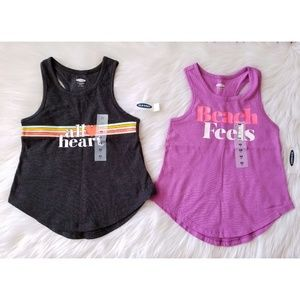 NWT Girls Old Navy Graphic Tank Tops Size XS 5